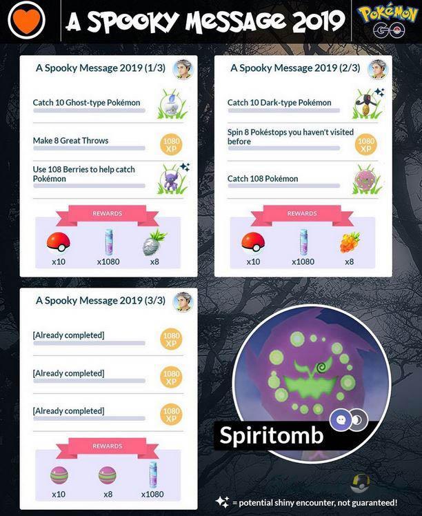 Spooky Message 2019 в Покемон ГО