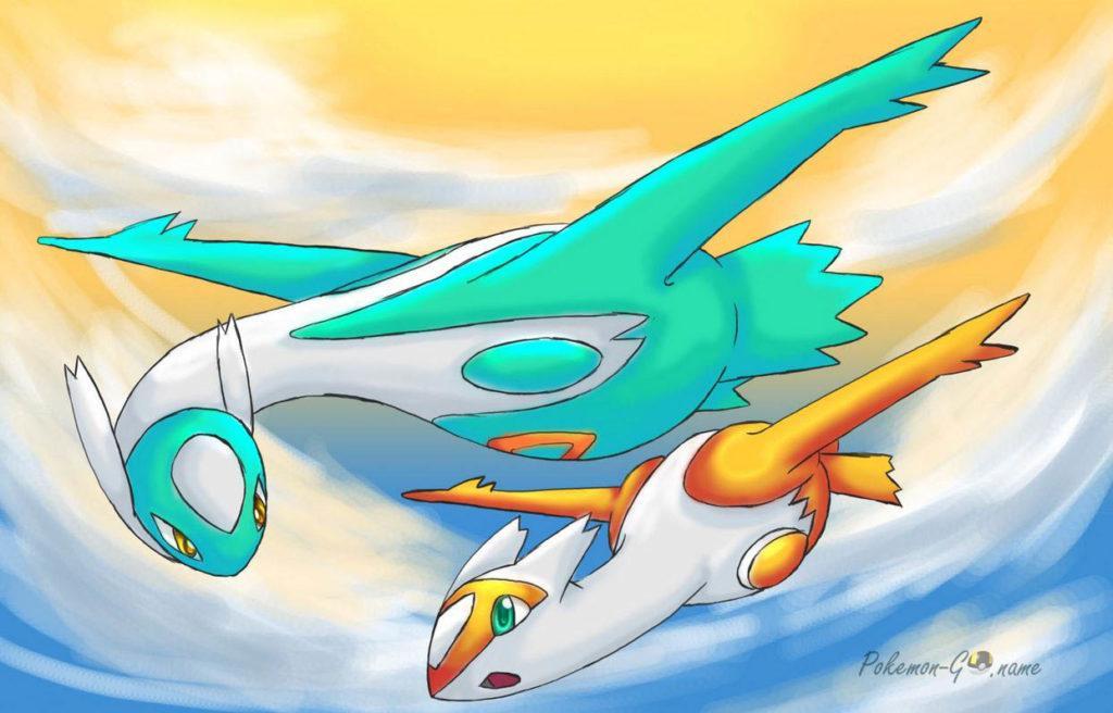 Shiny Pokemon Latios and Latias