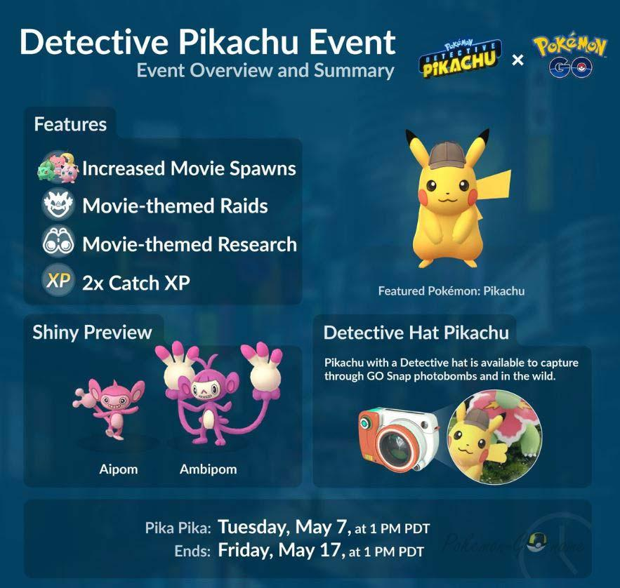 Подробности ивента Детектив Пикачу