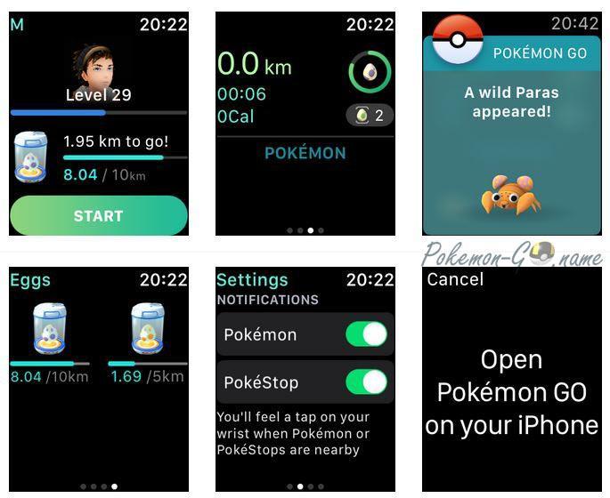 Работа Apple Watch с Покемон ГО
