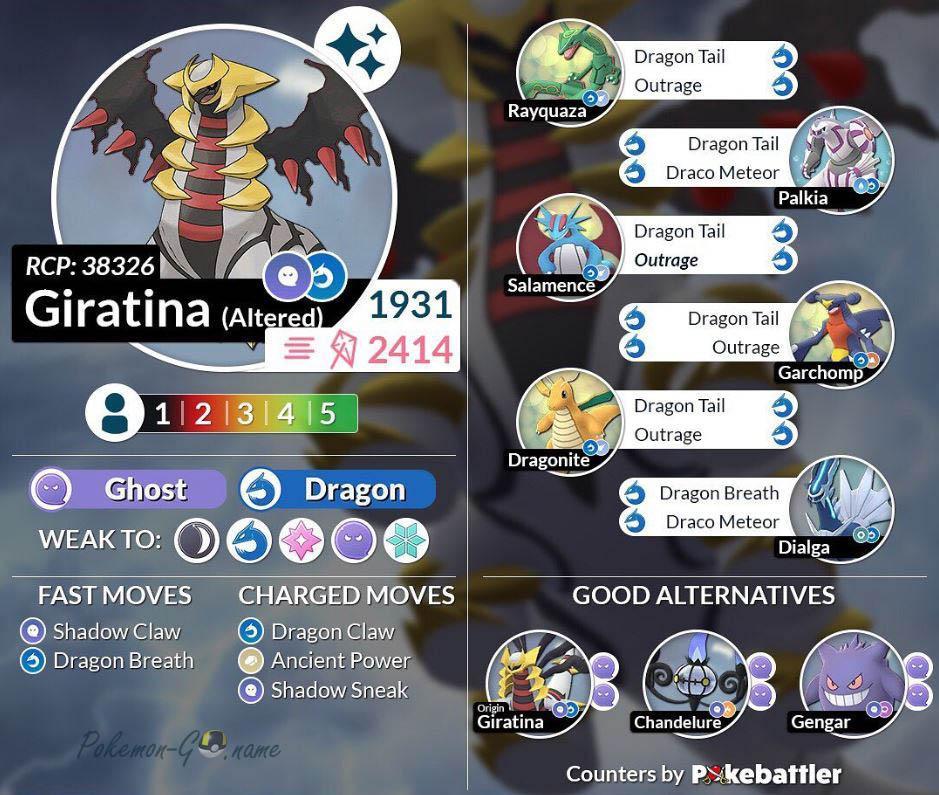 Как победить альтернативную форму Гиратины