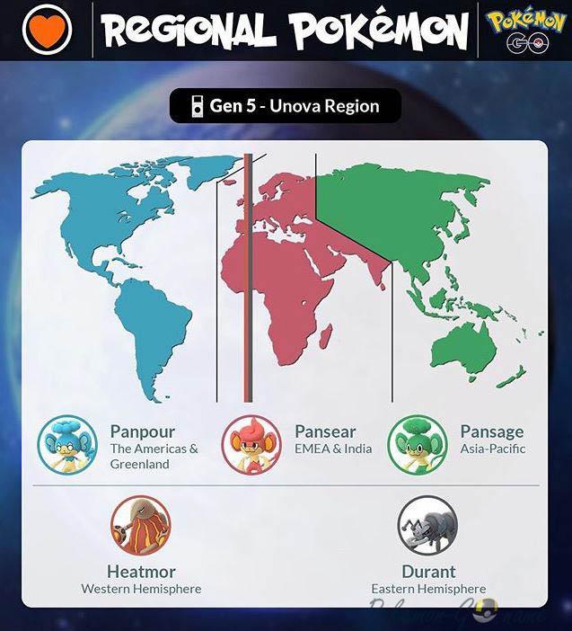 Региональные Покемоны 5 поколения