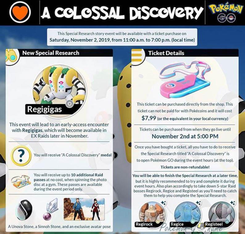 Квест Colossal Discovery в Покемон ГО