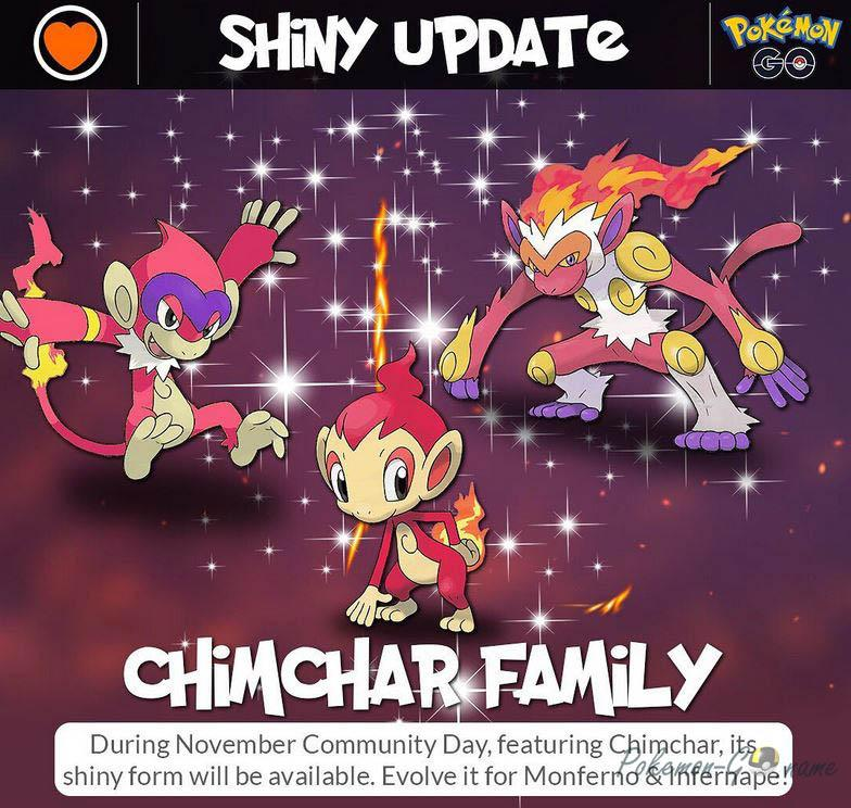 Shiny Chimchar, Monferno и Infernape