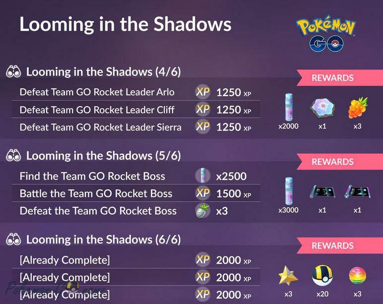 Исследование Looming in the Shadows в Pokemon GO