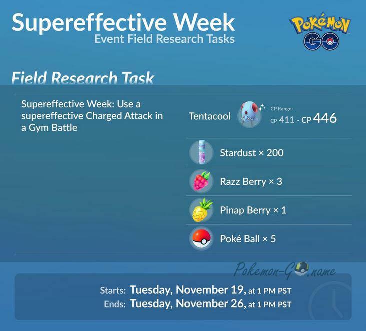 Квесты Supereffective Week
