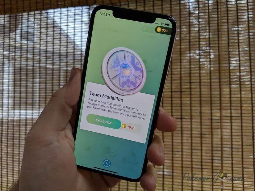Pokemon GO Team Medallion