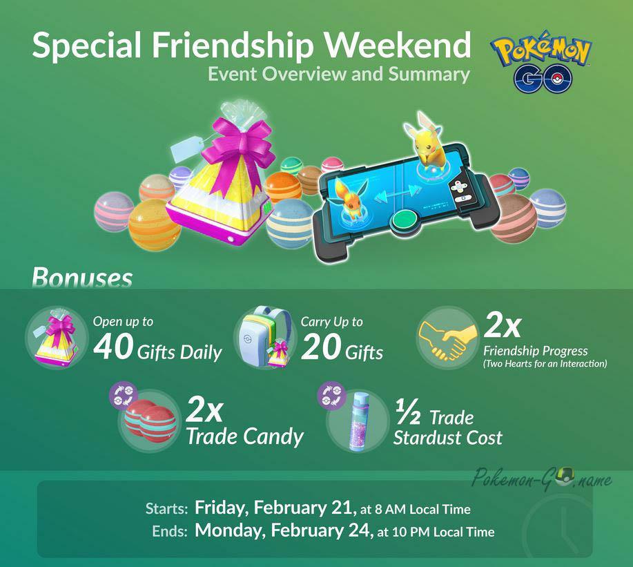Friendship Weekend 2020 в Покемон ГО