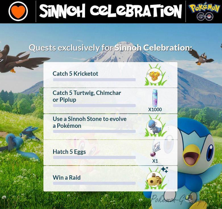 Квесты ивента Sinnoh Region Celebration 2020 в Покемон ГО