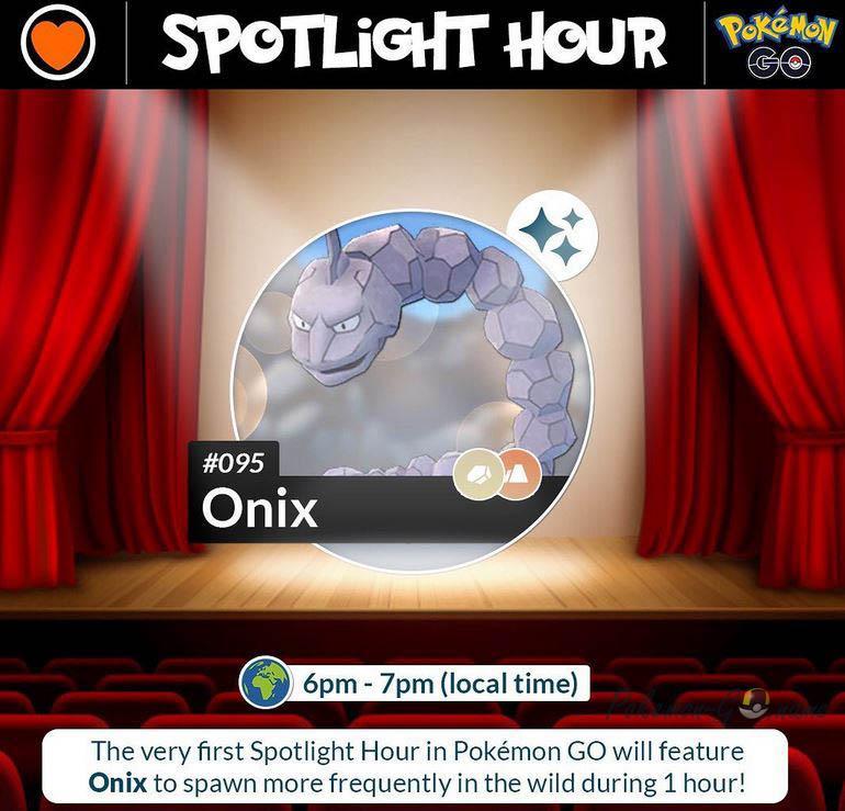 Pokemon Onix Spotlight Hour