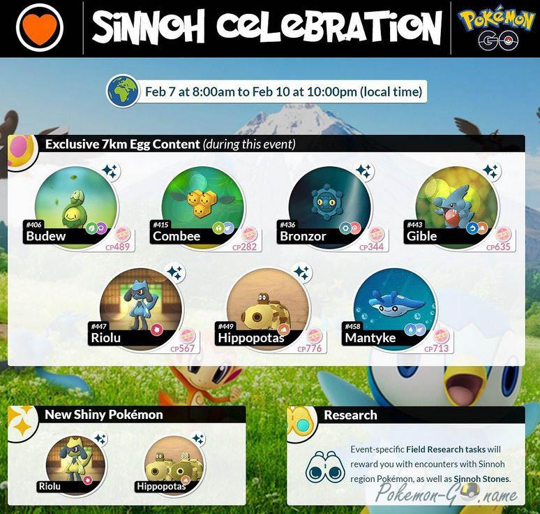 Pokemon GO Sinnoh Celebration Event Guide