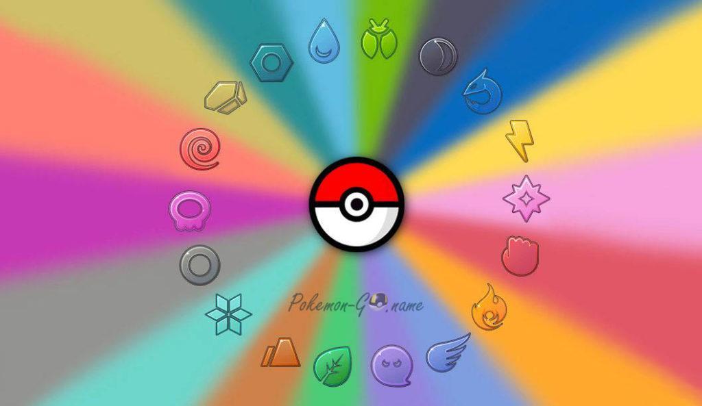 Все типы Покемонов в Pokemon GO