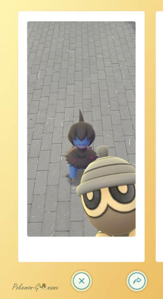 Появление Покемона Сидот на фотографии Snapshot