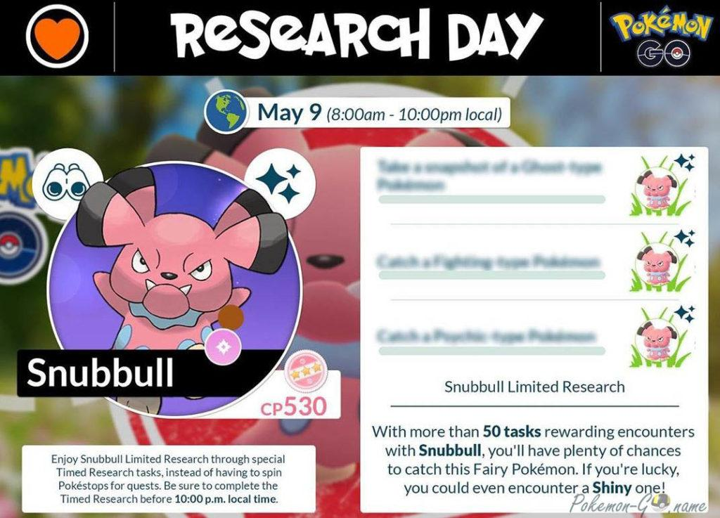 Гайд ивента Snubbull Limited Research в Покемон ГО