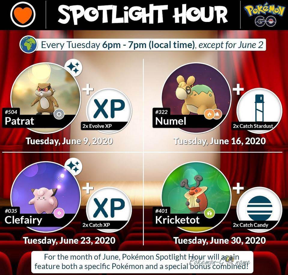Событие Spotlight Hour в Покемон ГО в июне 2020