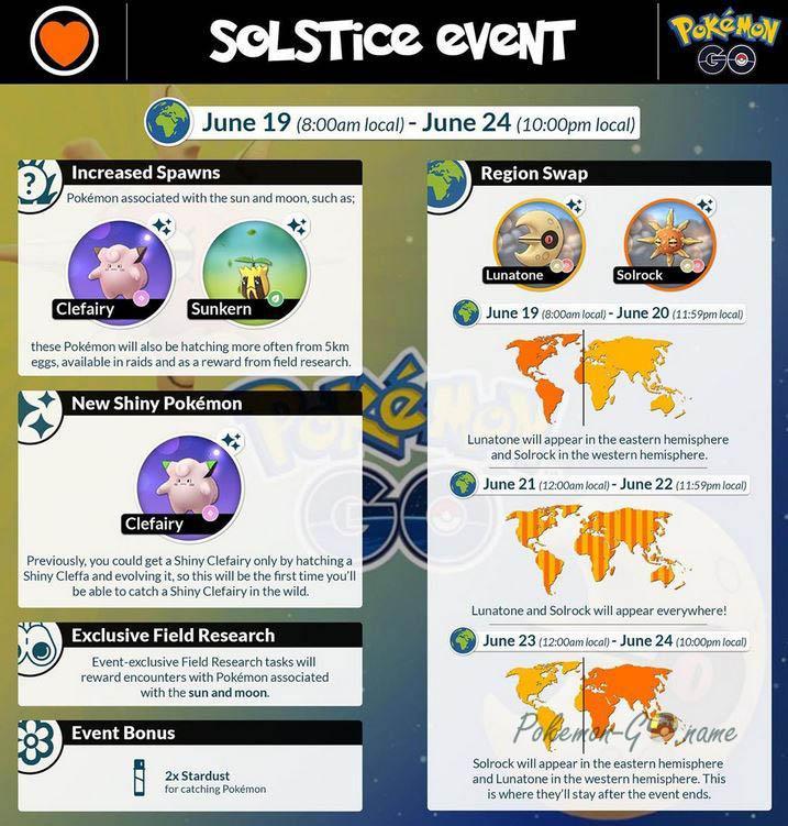 Pokemon GO Solstice Event 2020