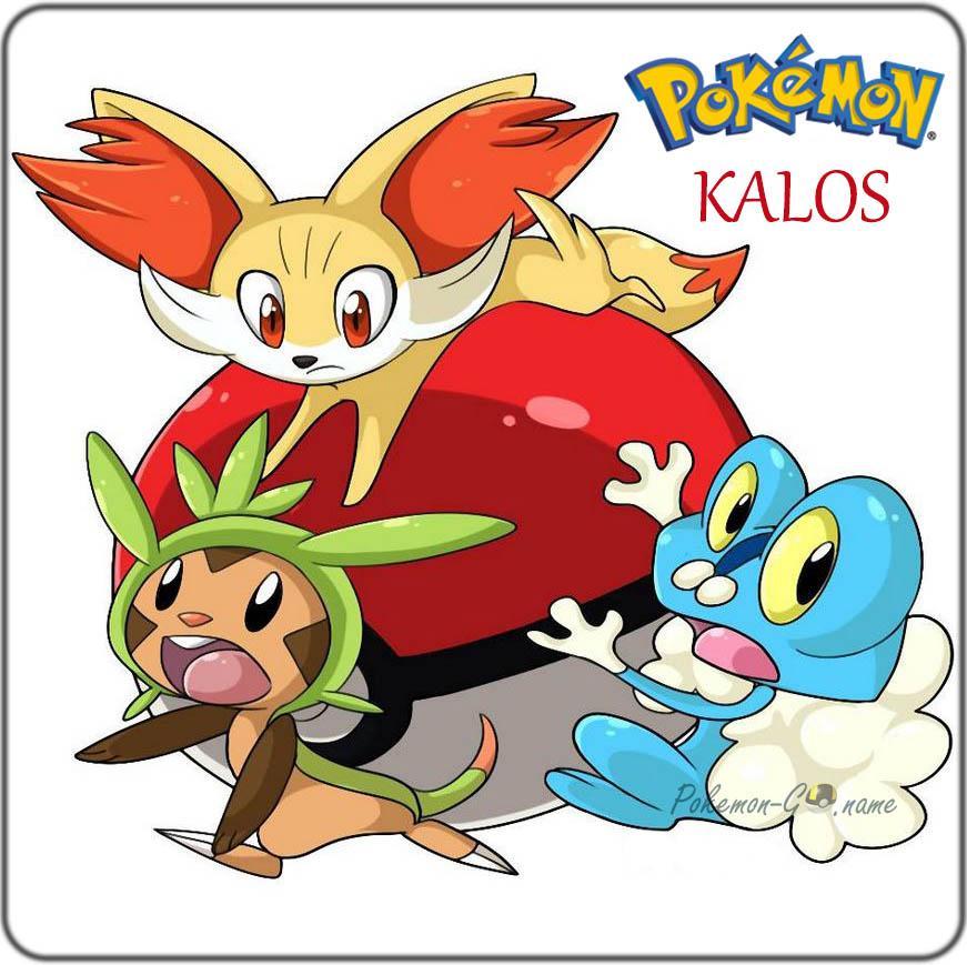 6 поколение Покемонов - регион Калос (Kalos)