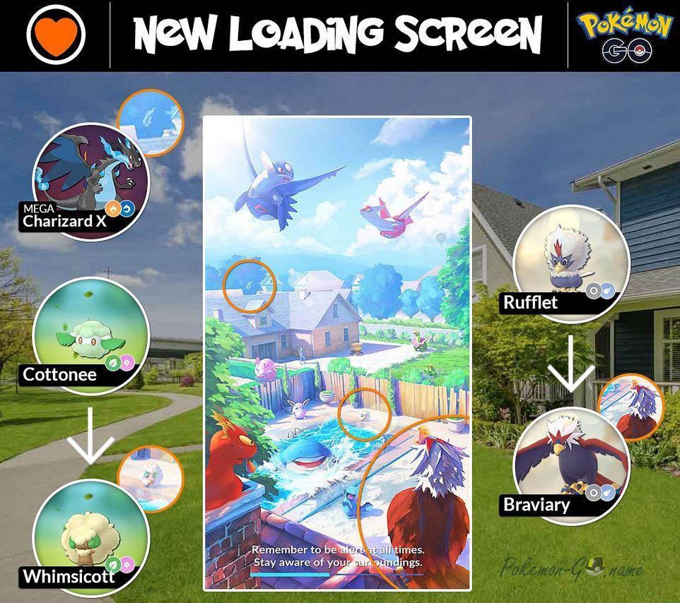 Новый экран загрузки Покемон ГО