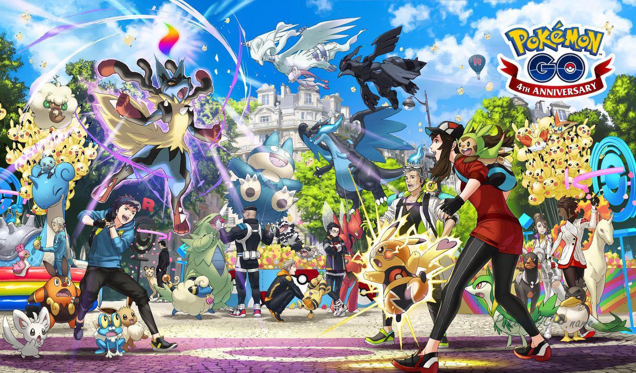 Постер 4 годовщины Покемон ГО - показаны новые Покемоны