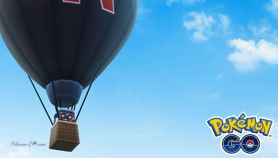 Воздушный шар Team GO Rocket в Покемон ГО