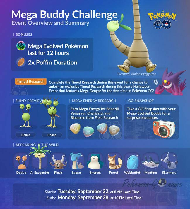 Mega Buddy Challenge Event Guide