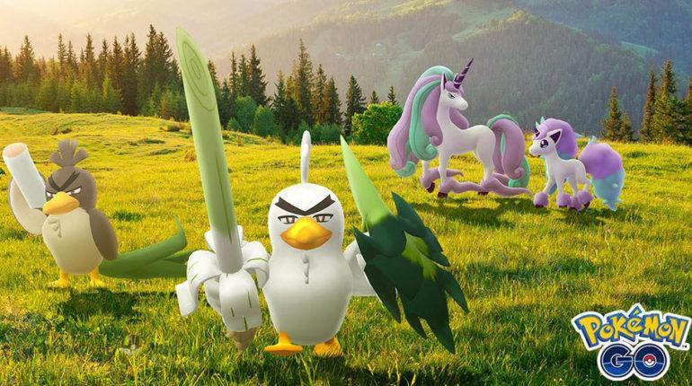 Галар Понита и Галар Фарфетч в Pokemon GO
