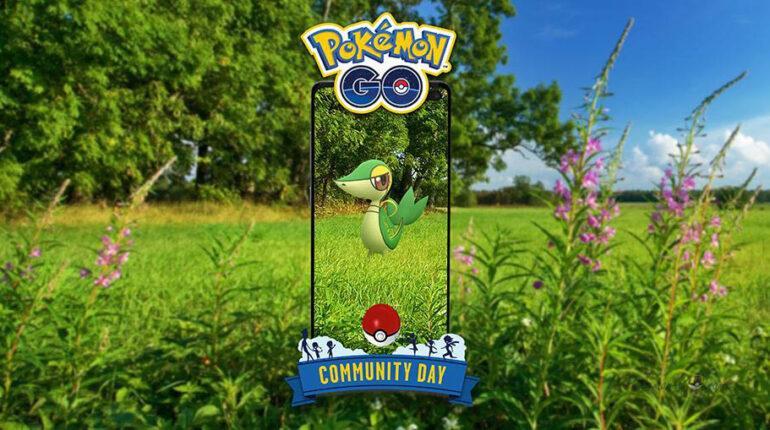 Snivy Community Day в Покемон ГО - апрель 2021