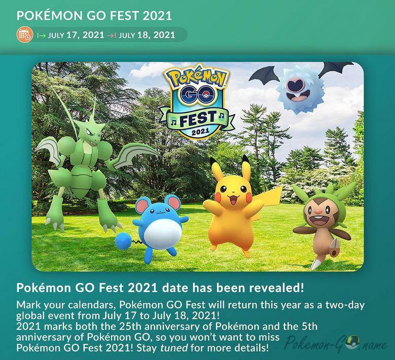 Ивент Покемон ГО Фест 2021 года