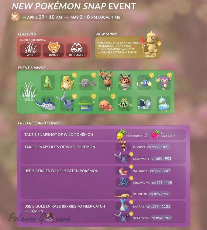 Праздник New Pokemon Snap 2021 в Покемон ГО