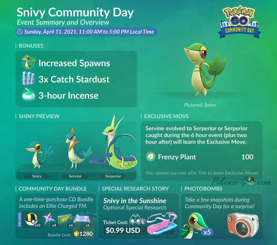 Комьюнити День Снайви в Pokemon GO