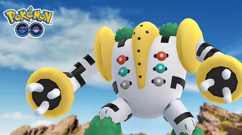 Покемон Regigigas в июне 2021 года в Pokemon GO