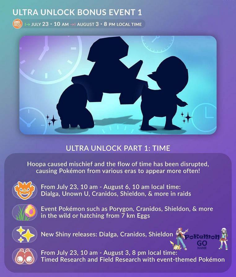 Pokemon GO Ultra Unlock Bonus Event - Time