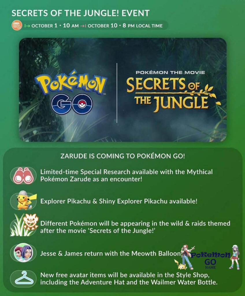Pokemon GO Secrets of the Jungle Event Guide